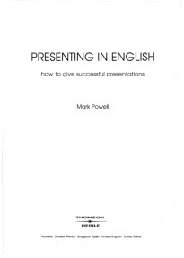 Presenting in English:How to Give Successful Presentations