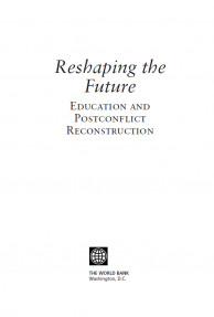 Reshaping the Future Education and Postconflict Reconsstruction