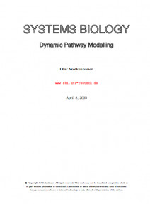 Systems Biology,Dynamic Pathway Modelling