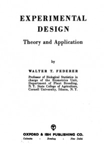 Experimental Design : Theory and Application